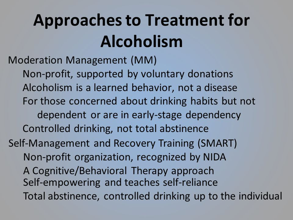 responsible drinking a moderation management approach for problem drinkers