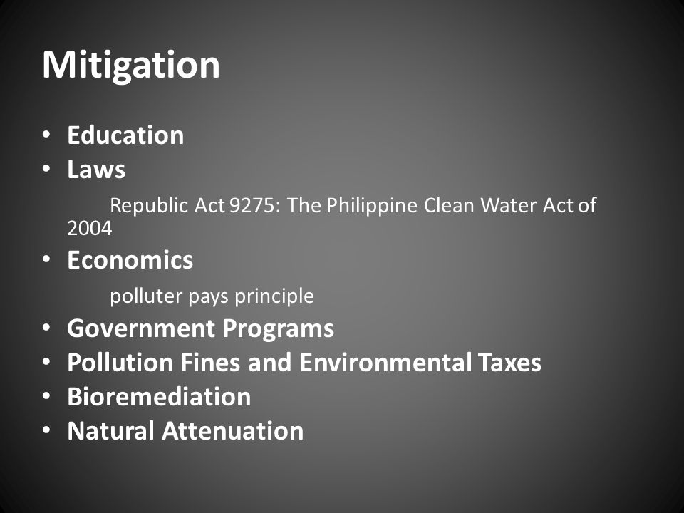 Mitigation Education Laws