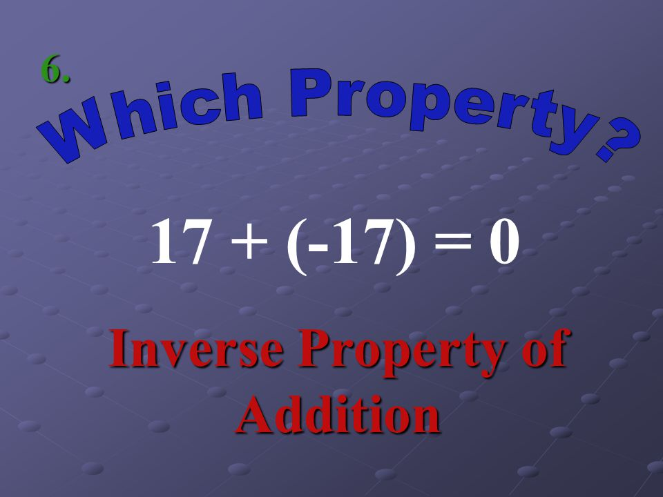 Inverse Property of Addition