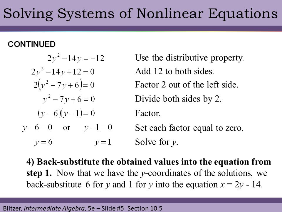 Solving Systems Of Nonlinear Equations: Systems Of Nonlinear Equations Worksheet At Alzheimers-prions.com