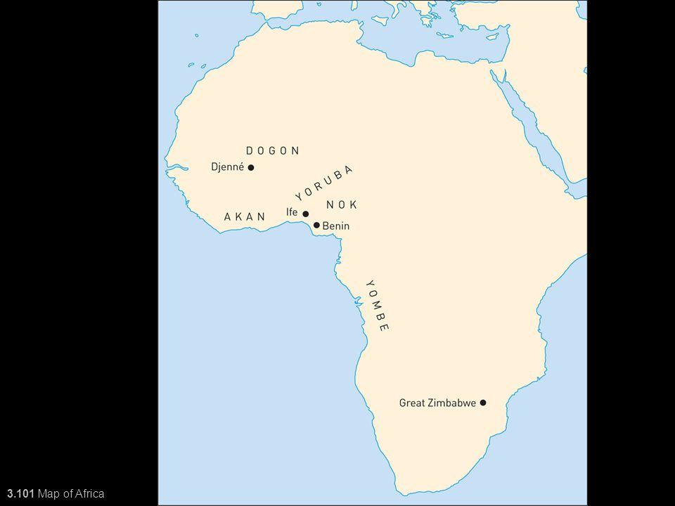 3 3101 Map of Africa Art of
