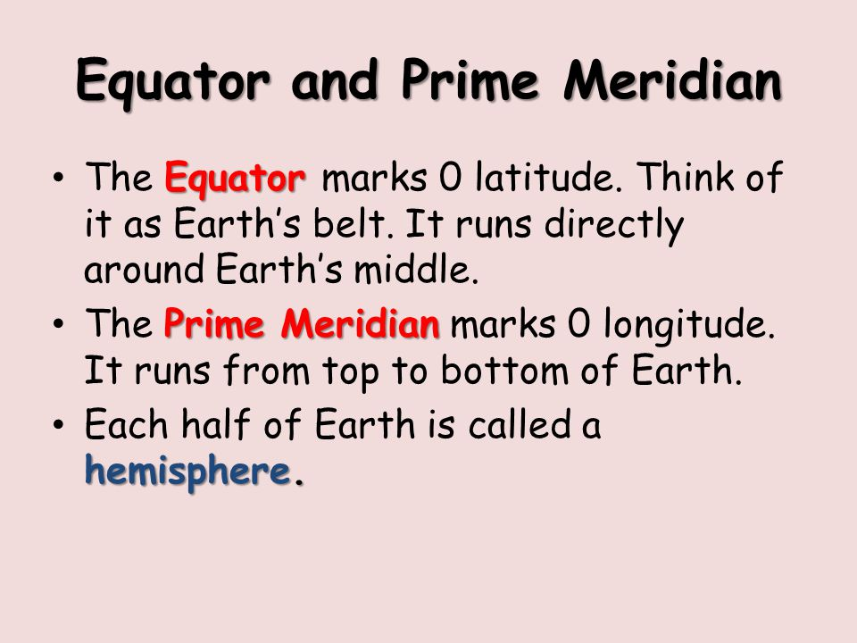 Equator and Prime Meridian