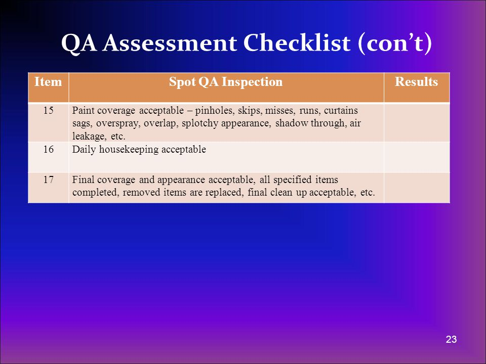 Surface Preparation - QA Assessments (con't) - ppt video online download