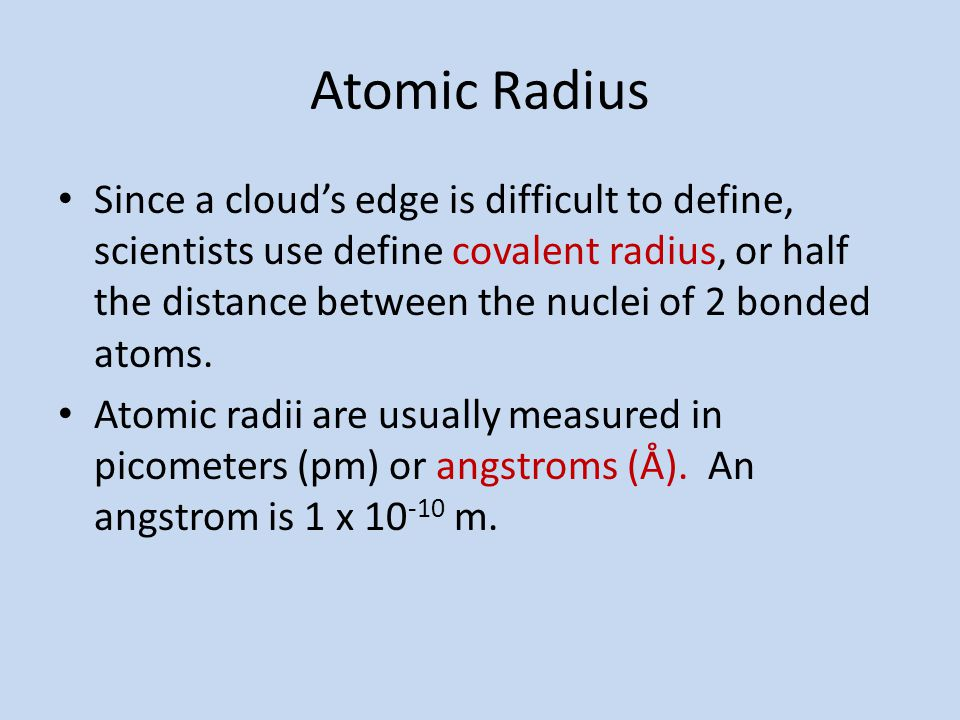 Trends in the periodic table ppt download atomic radius urtaz Gallery