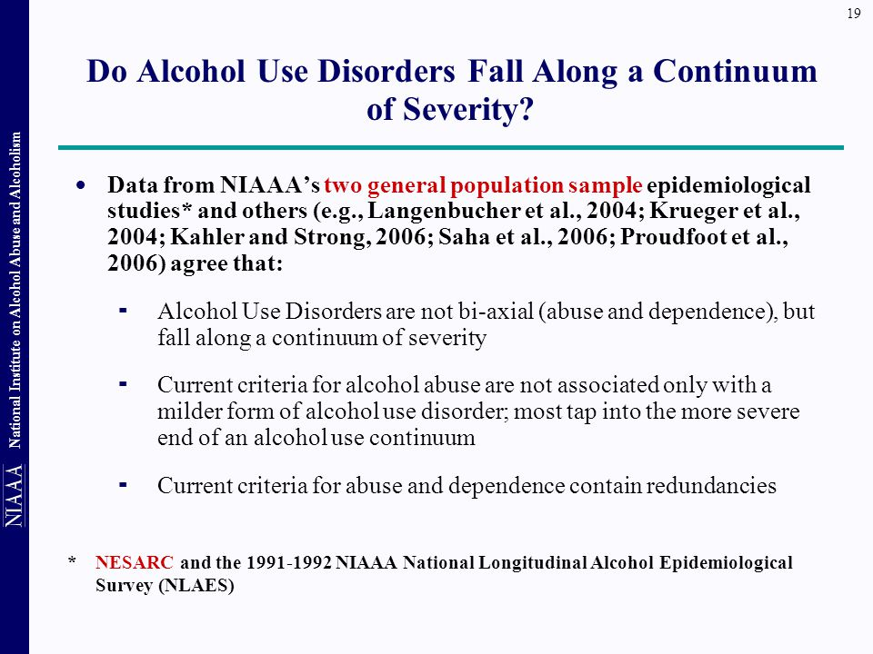 Do Alcohol Use Disorders Fall Along a Continuum of Severity