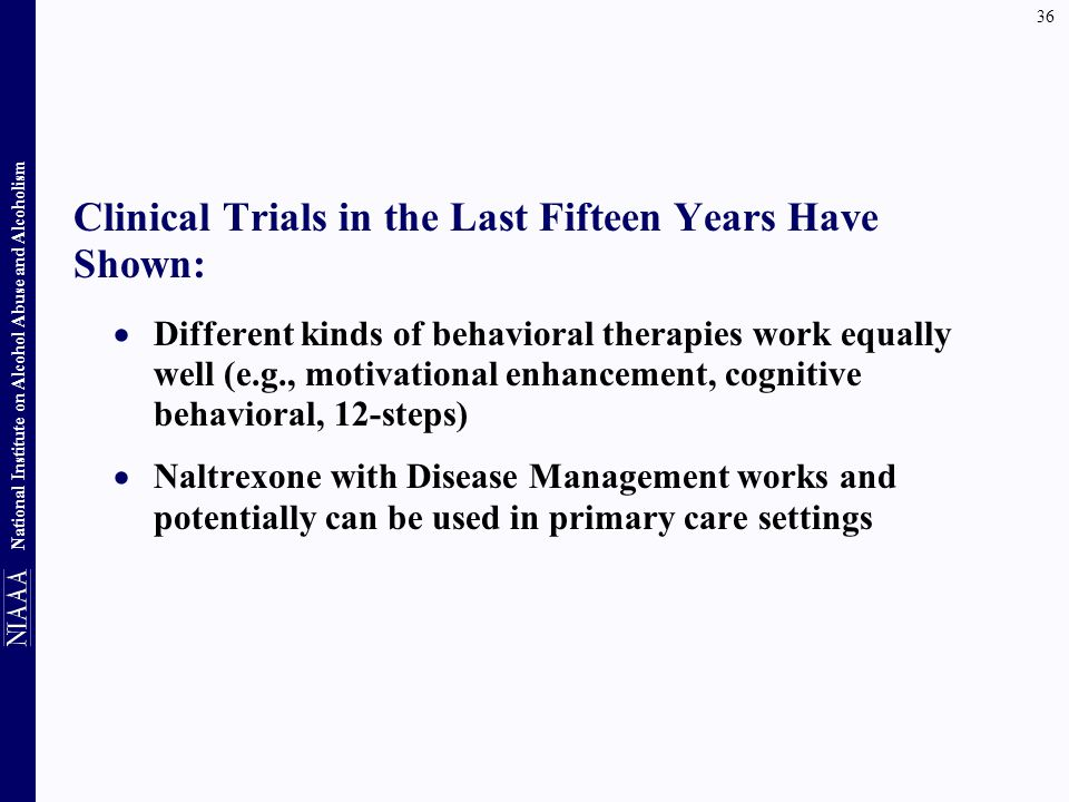 Clinical Trials in the Last Fifteen Years Have Shown: