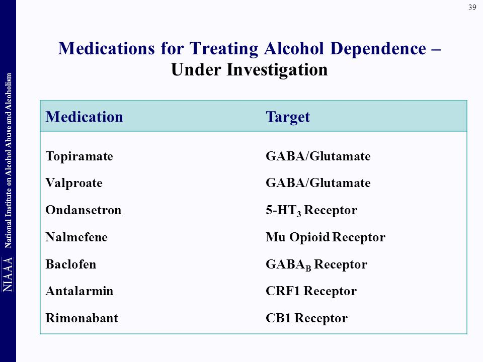 Medications for Treating Alcohol Dependence – Under Investigation