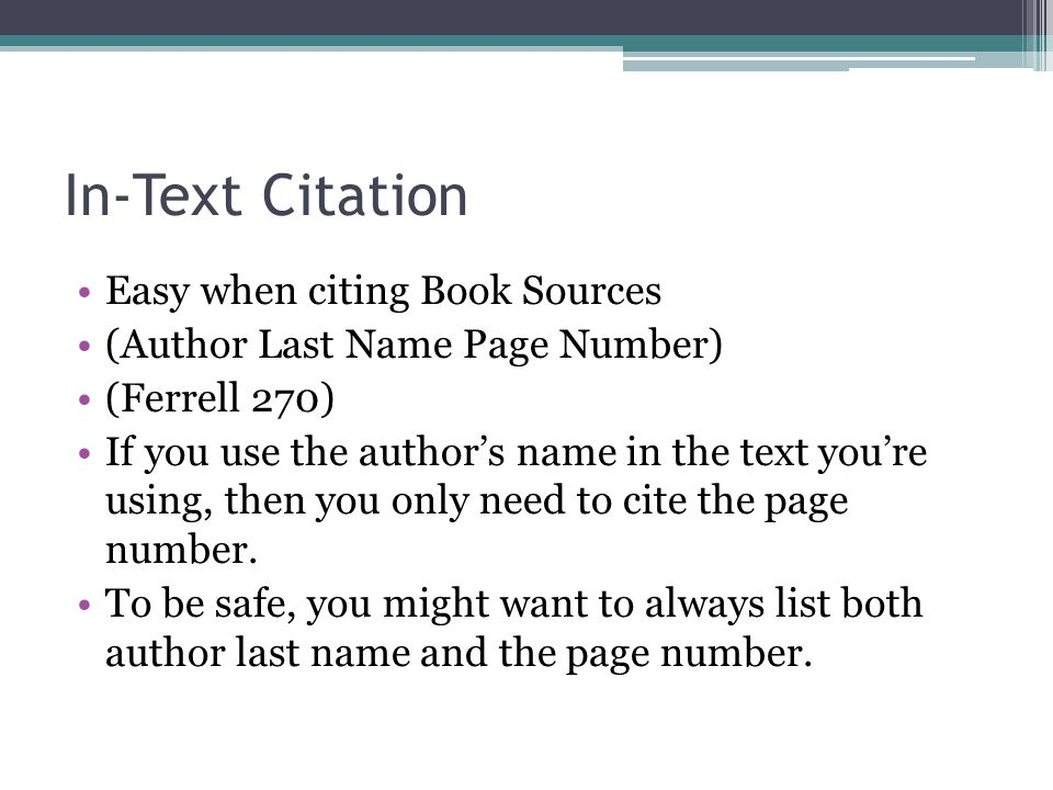 in text citation with page number