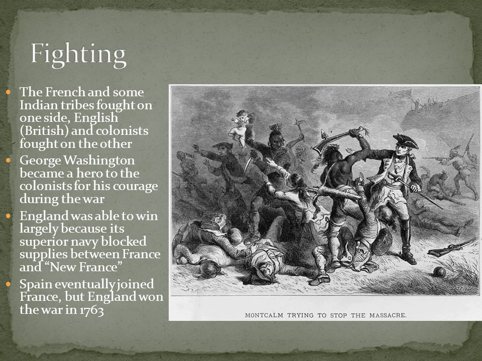 the french spanish and british who To the british, the end of the french and indian war was a costly victory but one that opened the north american continent to their total control and development to the colonists the war was one of the first signs that they were not just transplanted englishmen.
