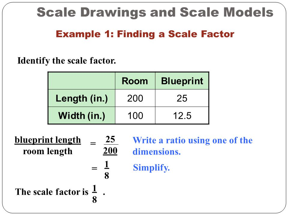 Scaling ppt video online download example 1 finding a scale factor malvernweather Image collections