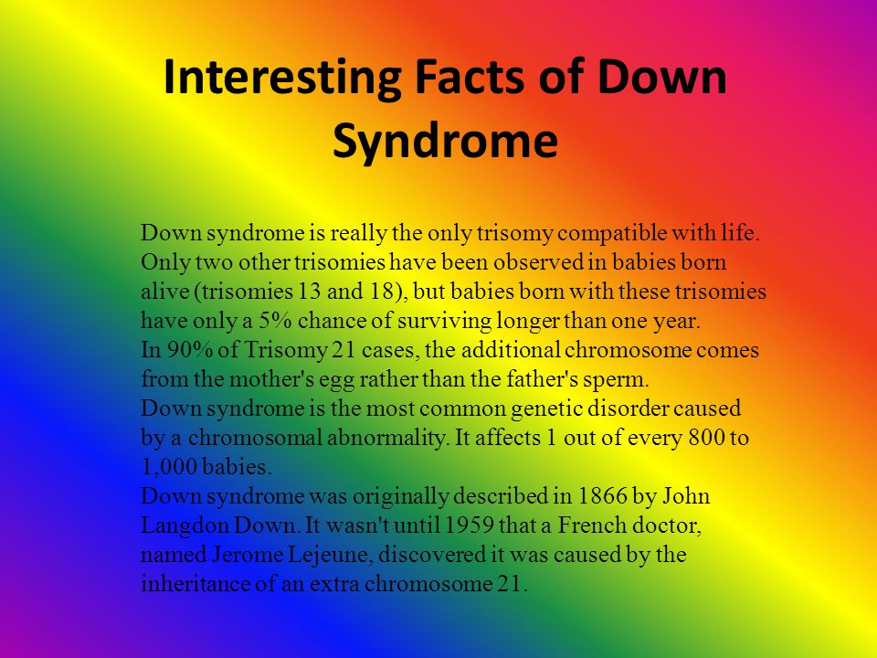 Interesting Facts of Down Syndrome