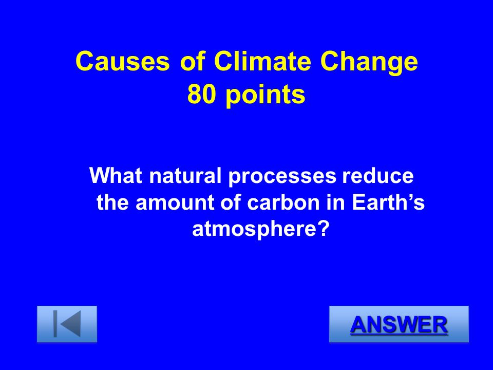 Causes of Climate Change 80 points
