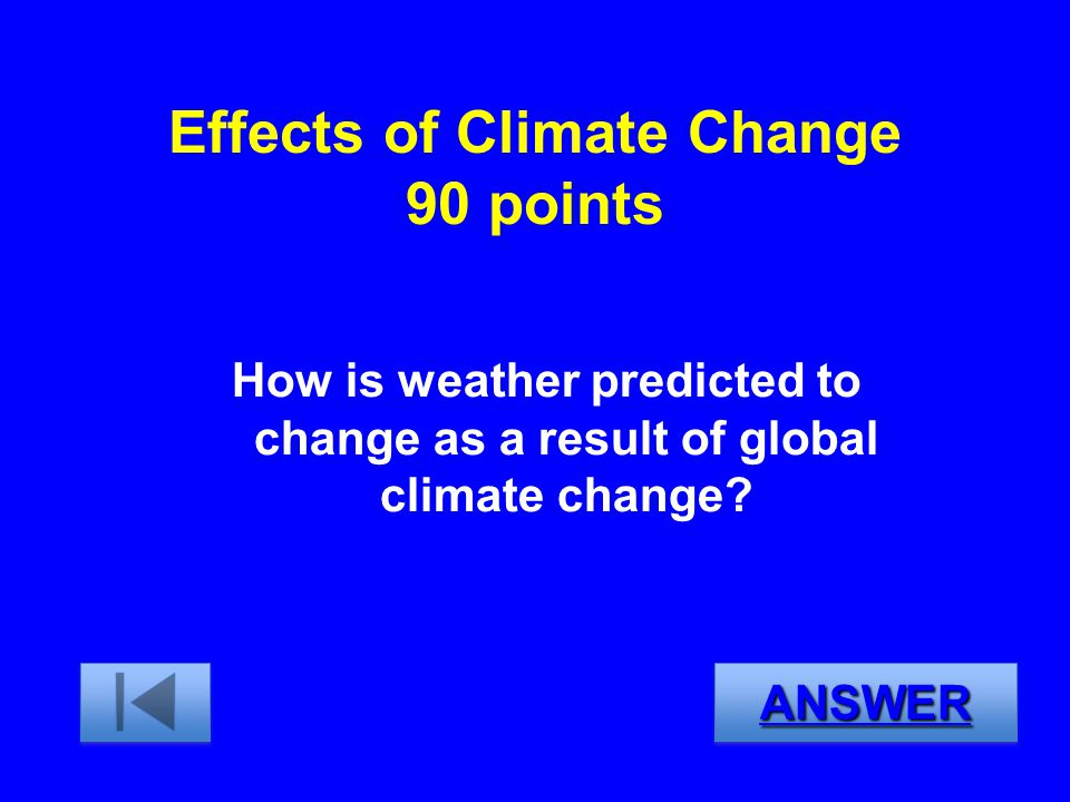 Effects of Climate Change 90 points