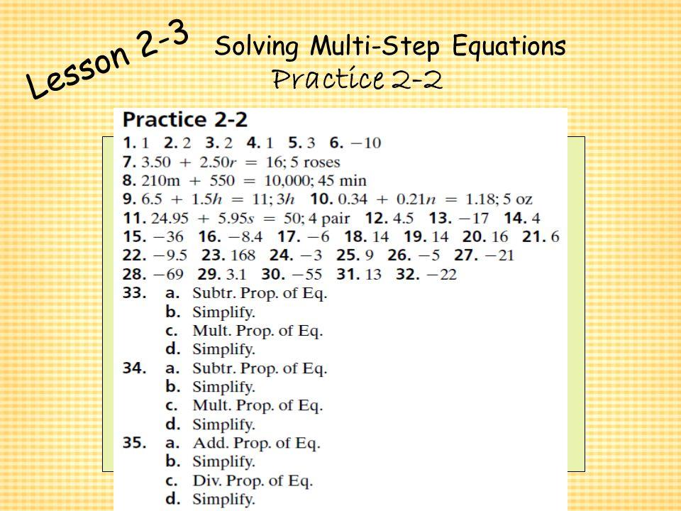 Chapter 2 Algebra I Algebra I Solving Equations Ppt Video Online