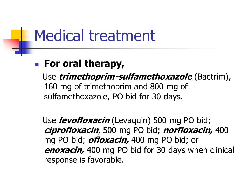 Medical treatment For oral therapy,