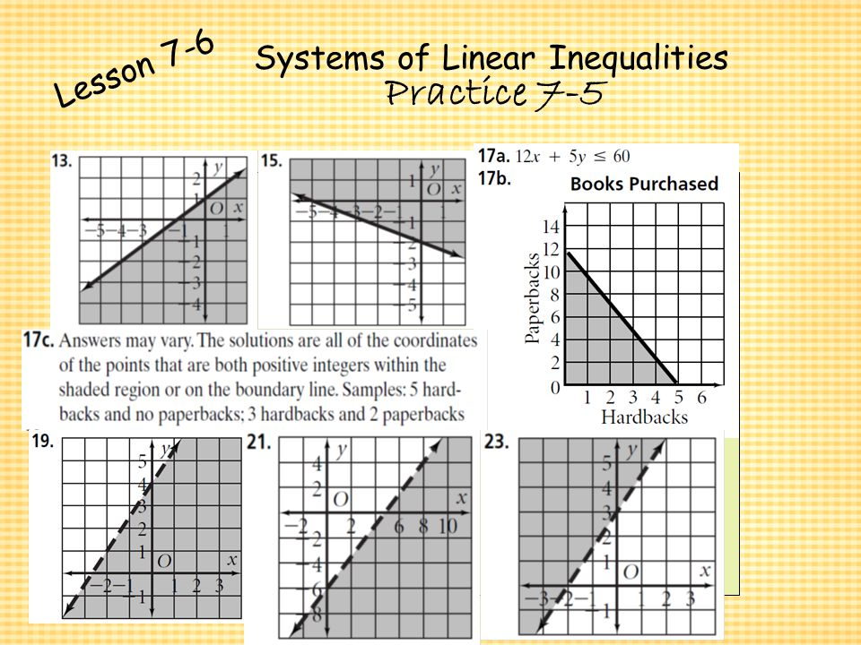 Systems of Equations & Inequalities - ppt video online download