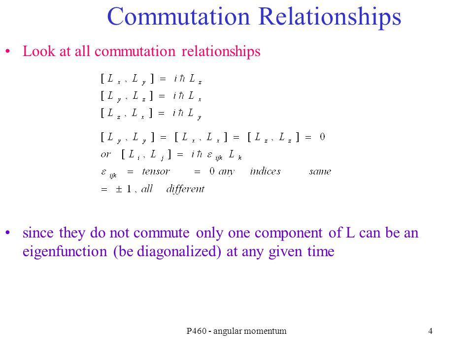 Commutation Relationships