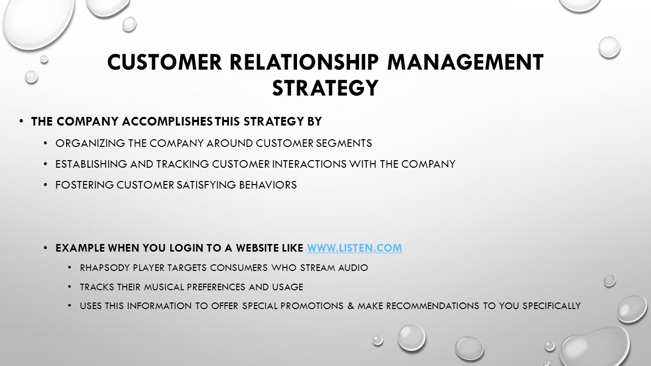 Customer Relationship Management Strategy