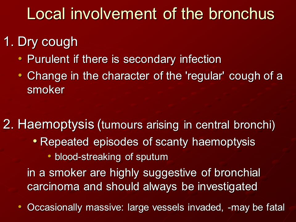 Local involvement of the bronchus