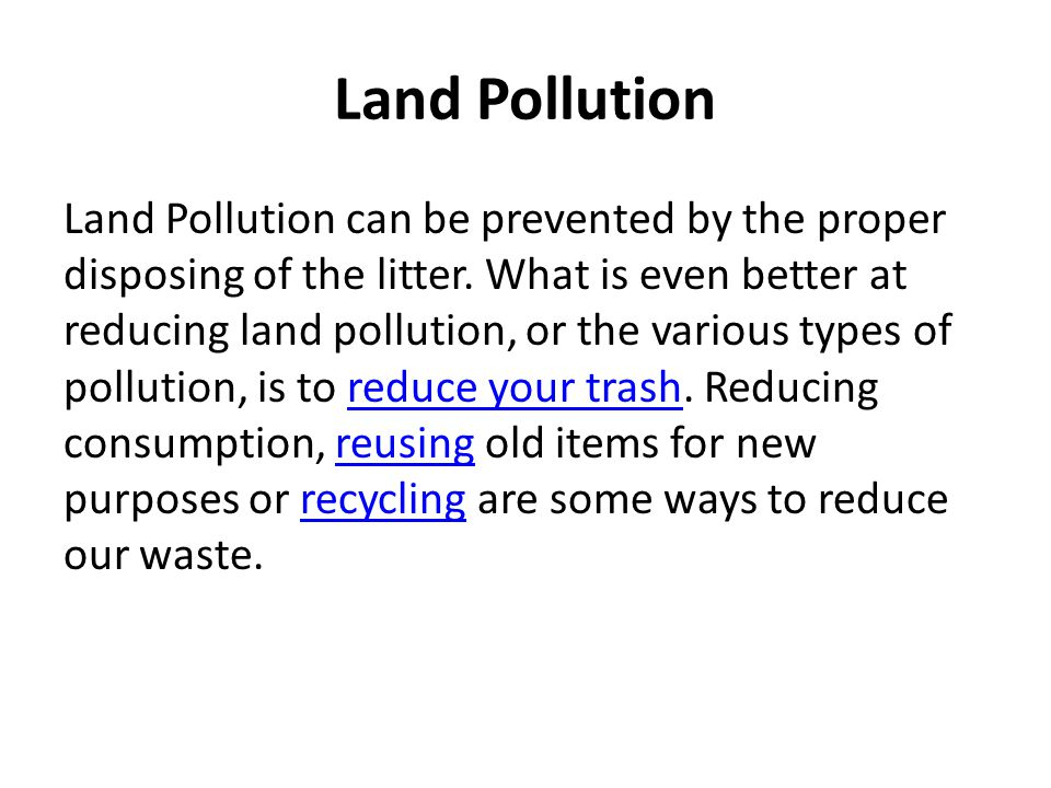 3 types of pollutions air pollution water pollution land pollution