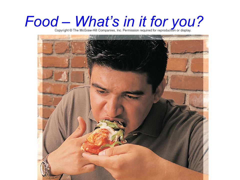 Food – What's in it for you