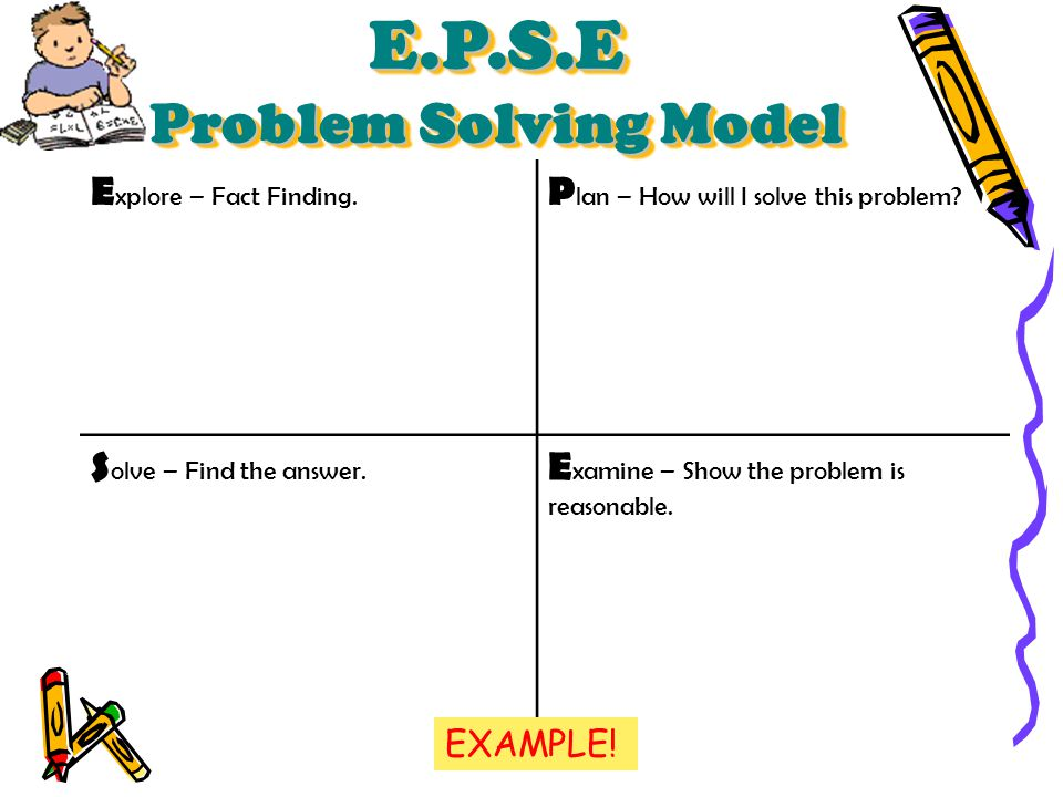 E.P.S.E Problem Solving Model - ppt video online download