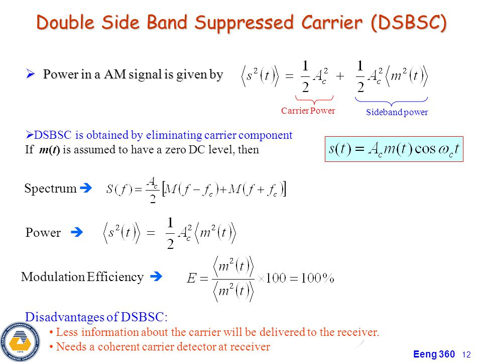 Double Side Band Suppressed Carrier (DSBSC)