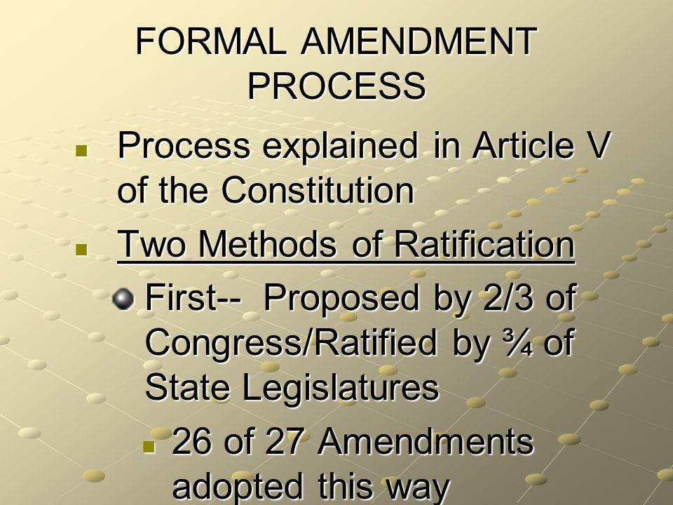 The Amendment Process Ppt Video Online Download. Formal Amendment Process. Worksheet. 27 Amendments Worksheet At Clickcart.co