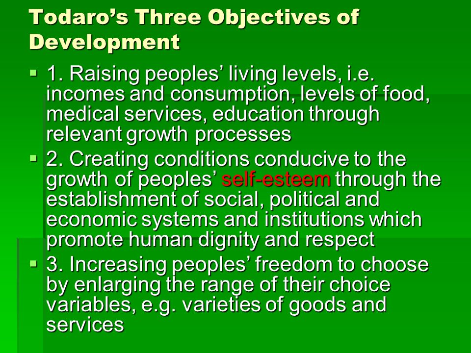 todaros three core values of development