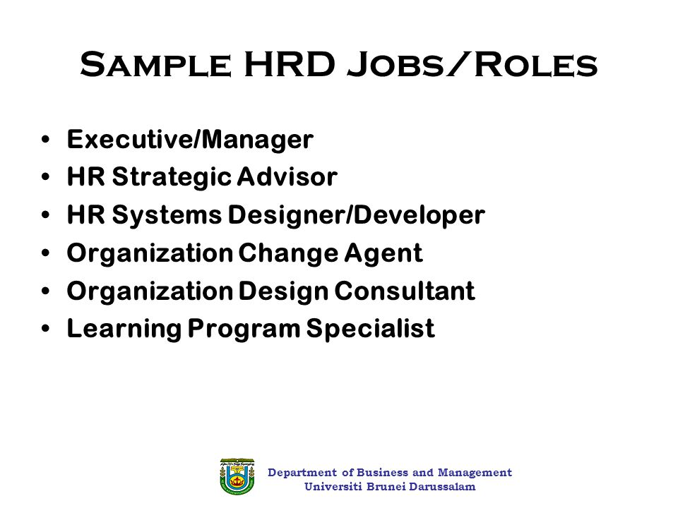 functions of hrd manager