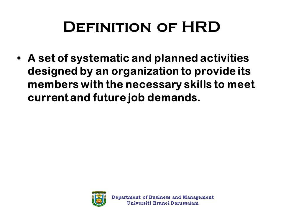 hrd mechanisms D) compare strategies and tools on hrd provided by the participating countries and donor agencies the conference programme is provided in annex i, and a list of participants is found in.