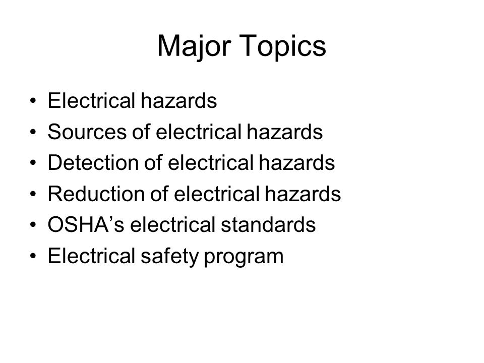 Big four construction hazards: electrical hazards ppt download.