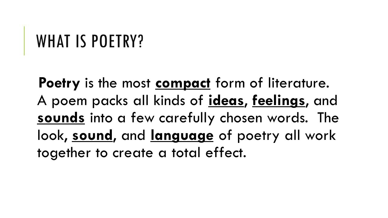 What is poetry 44