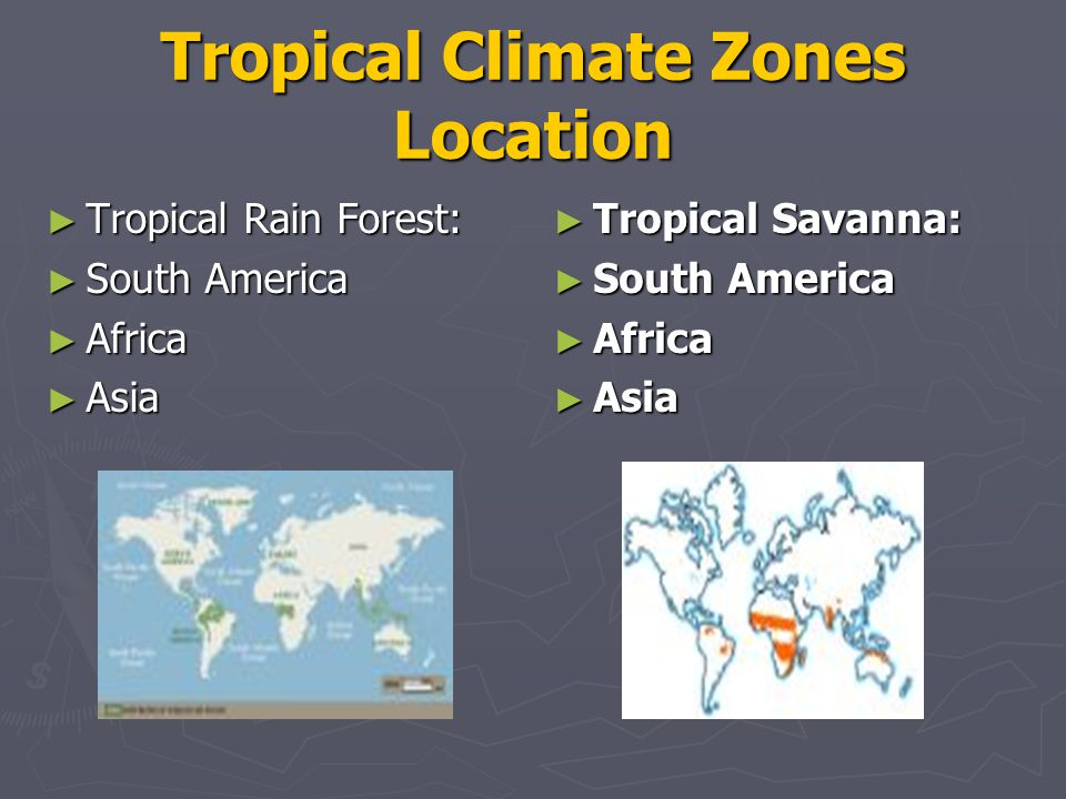 Tropical Climate Zones Location