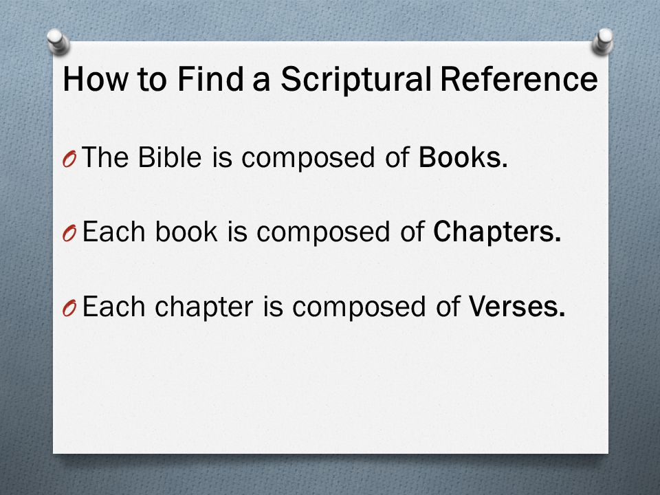 How do we find a passage in the Bible? - ppt video online