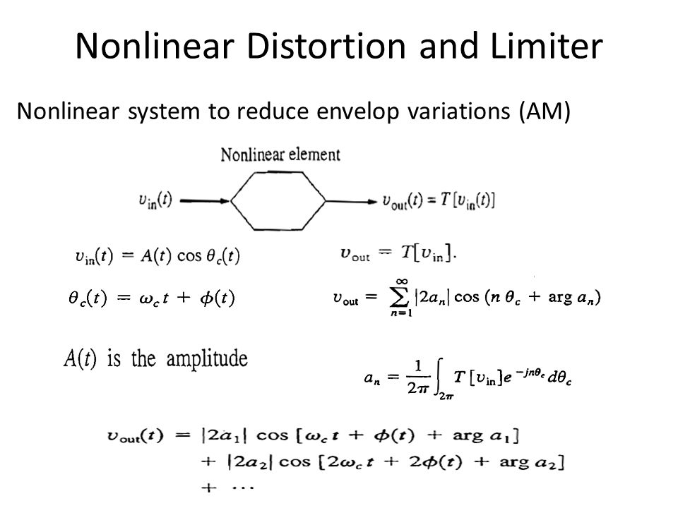 Nonlinear system to reduce envelop variations (AM)