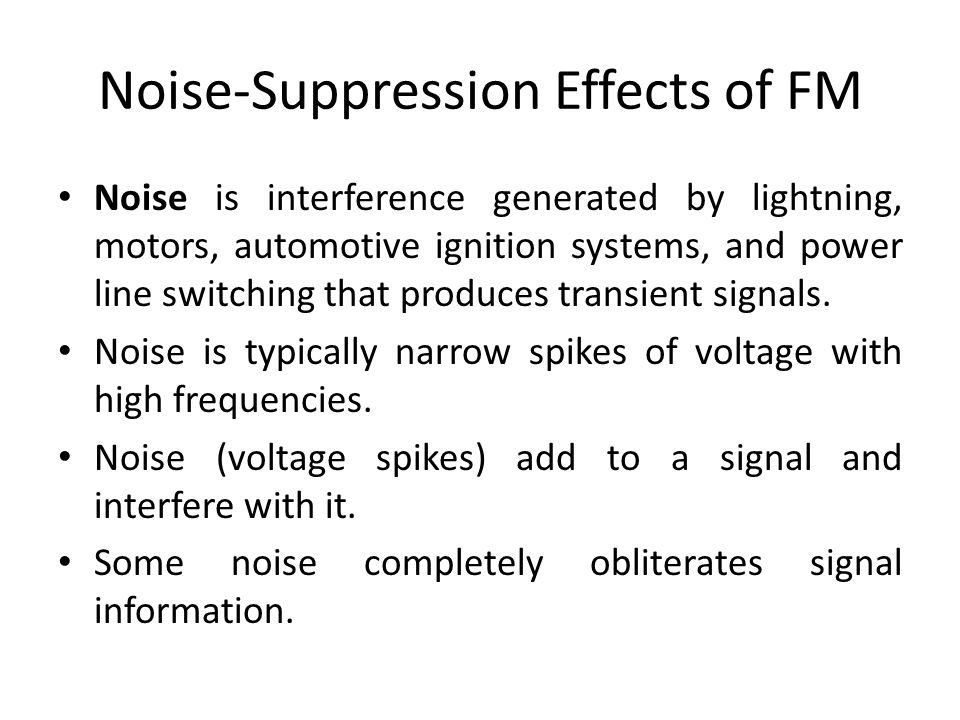 Noise-Suppression Effects of FM
