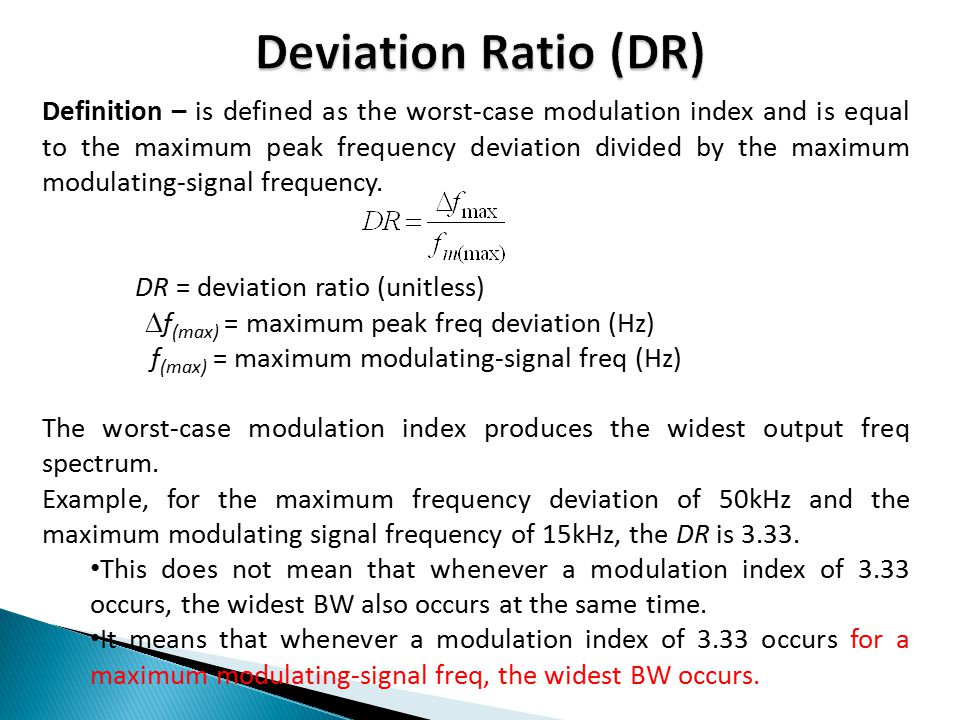 Deviation Ratio (DR)