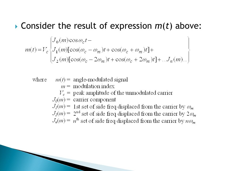 Consider the result of expression m(t) above: