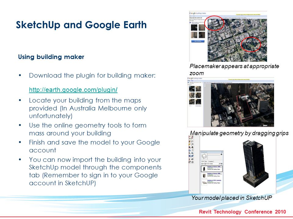 SketchUP Advanced and Integration into REVIT - ppt video