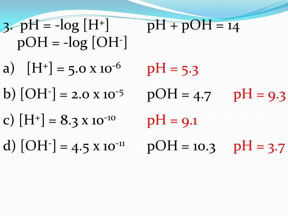 how to find molarity of oh from ph