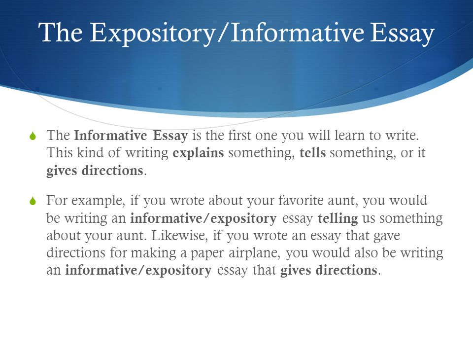 expositoryinformative essay  ppt video online download the expositoryinformative essay