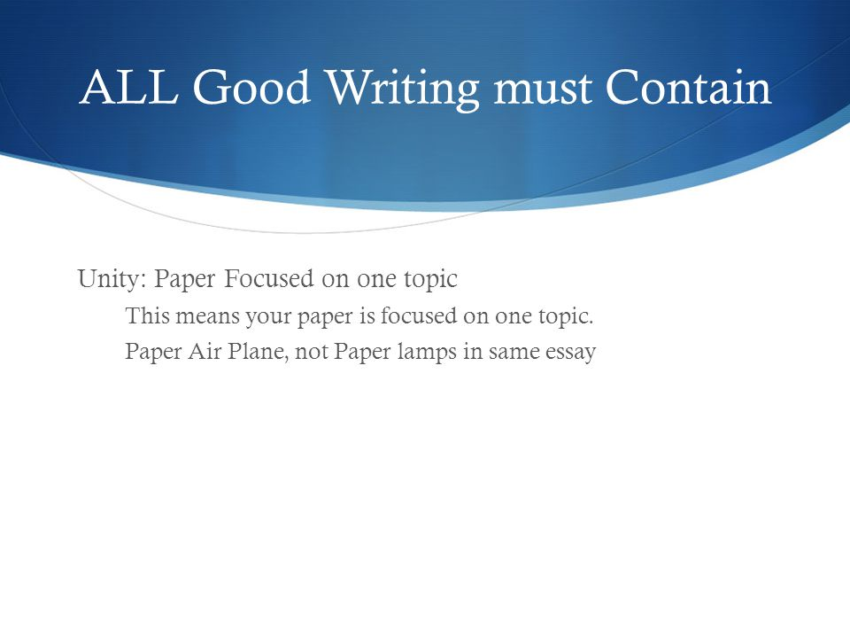 English Essay Websites All Good Writing Must Contain Example Of Essay Proposal also Othello Essay Thesis Expositoryinformative Essay  Ppt Video Online Download Critical Analysis Essay Example Paper