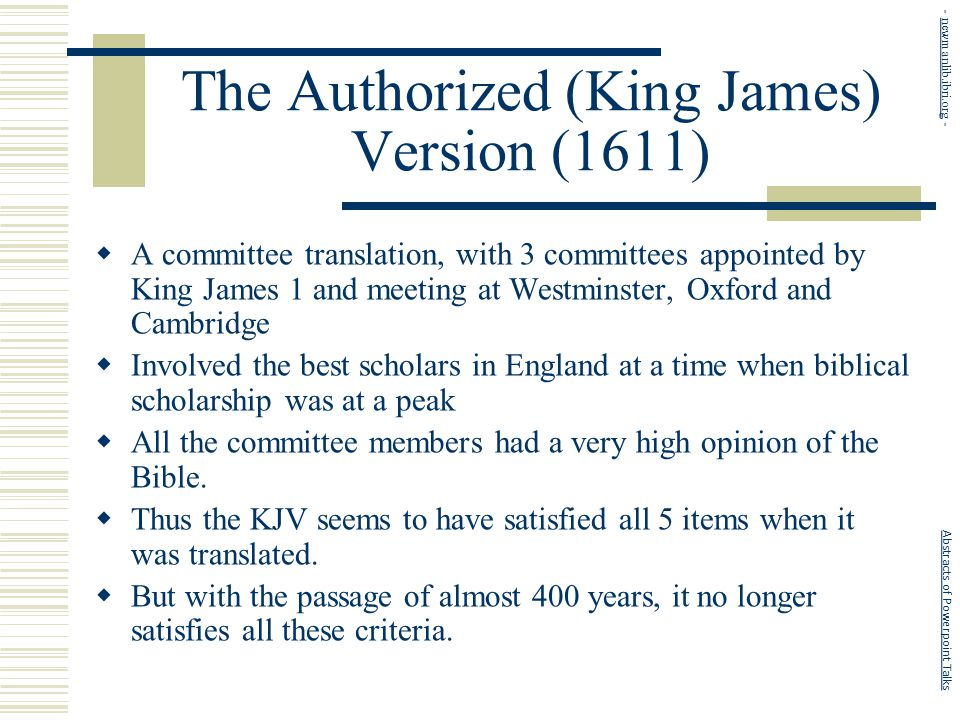 Who Translated The King James Bible