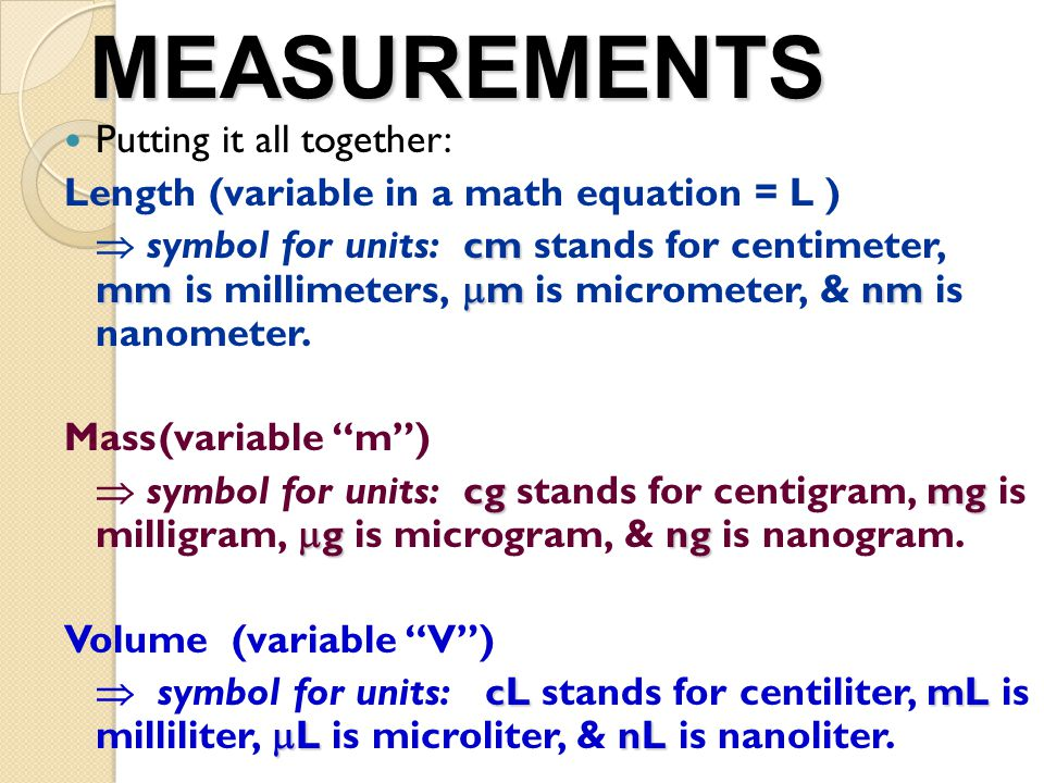 Measurements There Are Different Types Of Measurements That Can Be