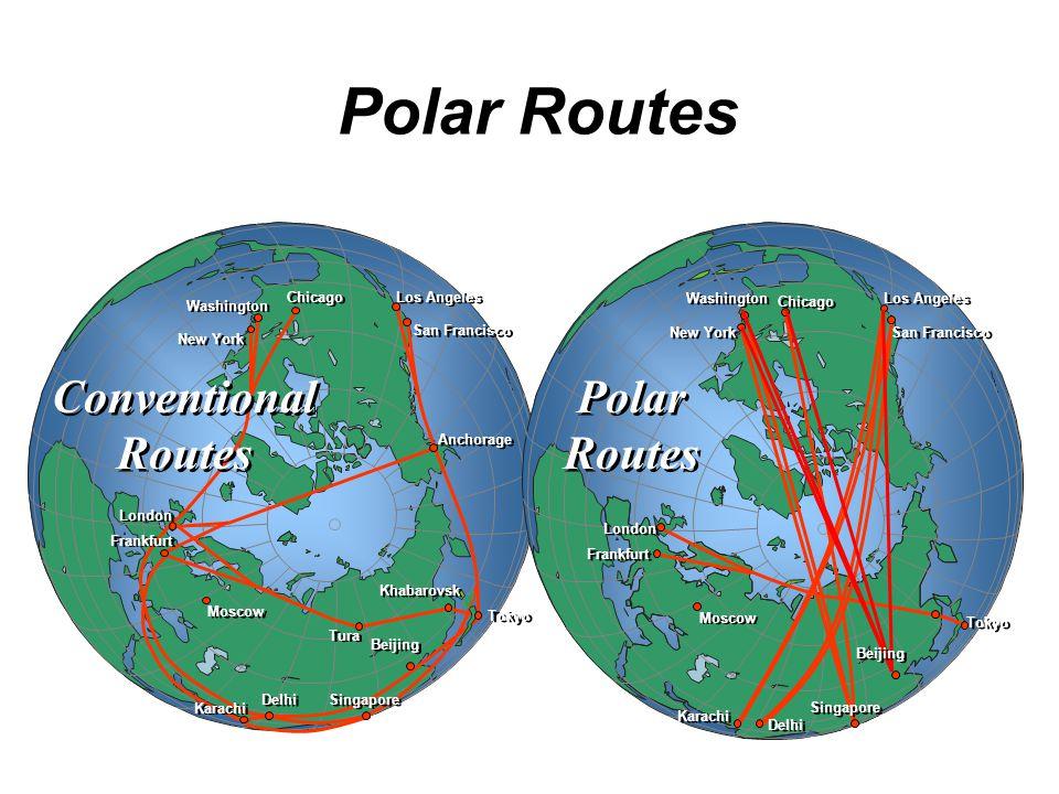 Polar Routes Polar Routes Conventional Routes Tokyo San ...