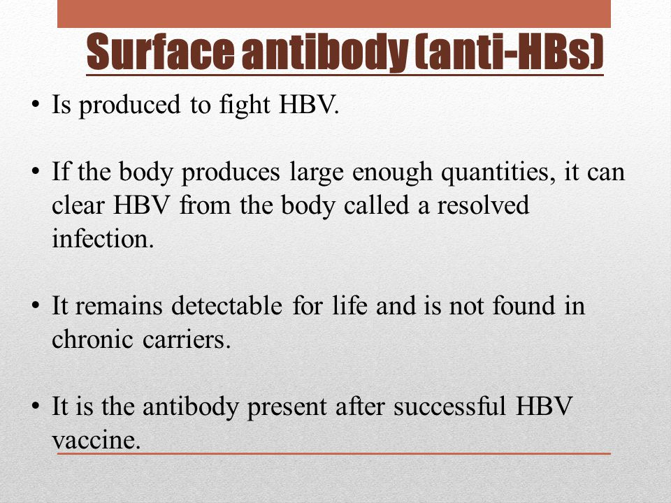 Surface antibody (anti-HBs)