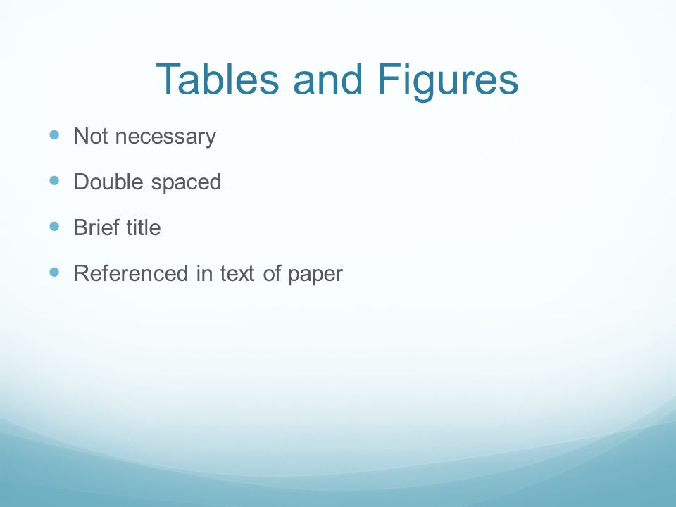 Tables and Figures Not necessary Double spaced Brief title