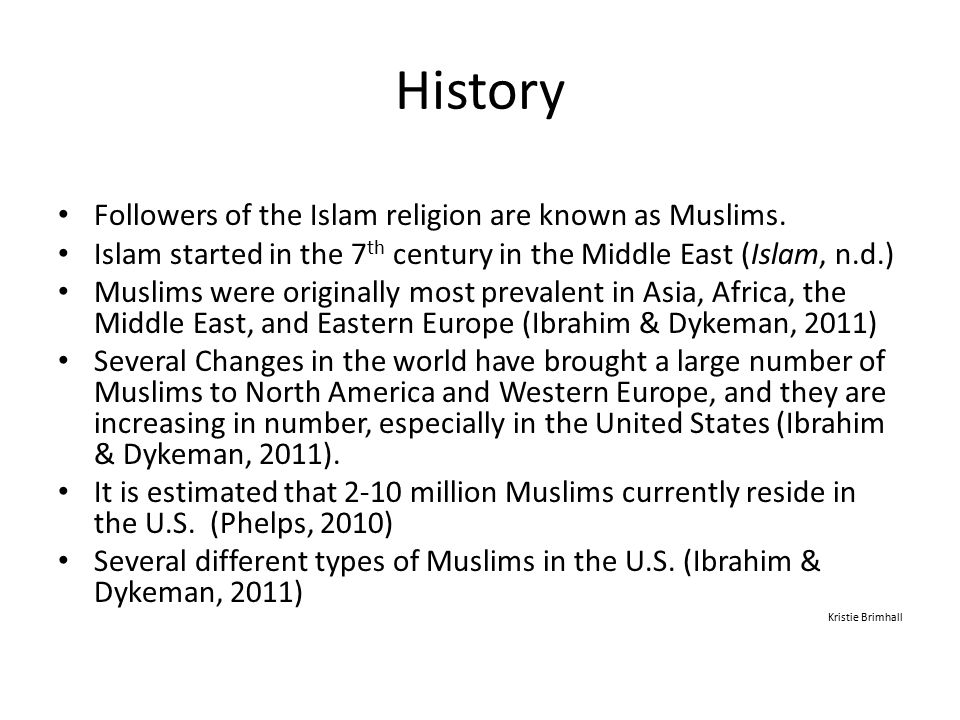 An Introduction and Historical Perspective Kristie Brimhall