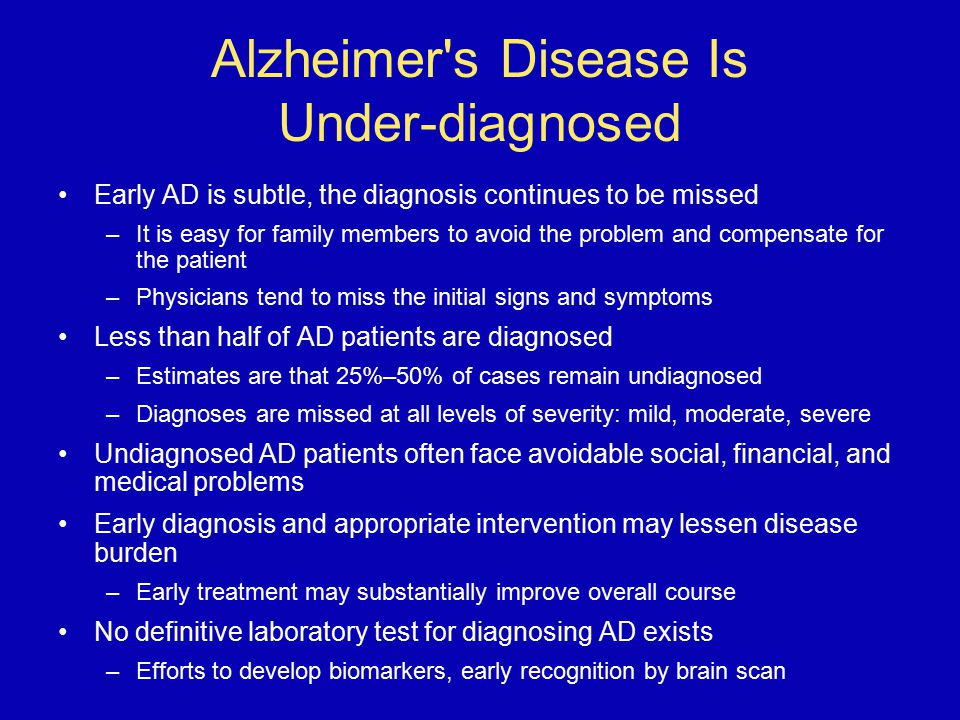 Alzheimer s Disease Is Under-diagnosed